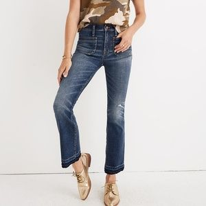 Madewell Cali Patch Pocket Demi boot jeans